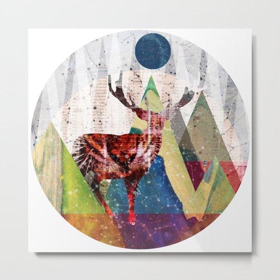Wonder Wood Dream Mountains - Red Deer Dream Illusion 2 Metal Print
