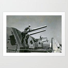 Painting Gun Barrels, Rhode Island Art Print