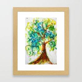 Gold Heart Tree Watercolor by CheyAnne Sexton Framed Art Print