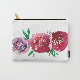 Three Red Christchurch Roses Carry-All Pouch
