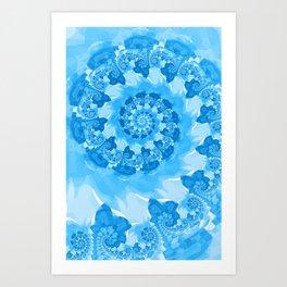 Endless Ocean Blue Spiral Art Print