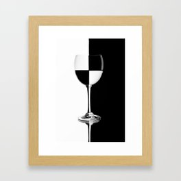 Background of black and white glass Framed Art Print