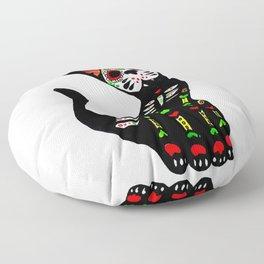 Mexican calvera cat Floor Pillow