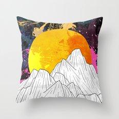 Cosmos Mounts Throw Pillow