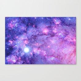 NebULa. & Planets Purple Lavender Canvas Print
