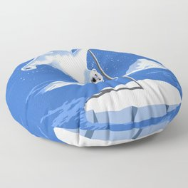 North Pole Dancer Floor Pillow