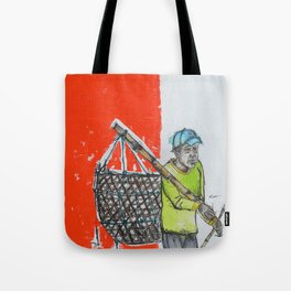 Seaweed Farmer - Island of Bali - Carrying the days Catch Tote Bag