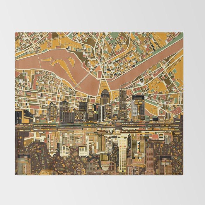 louisville city skyline 2 Throw Blanket