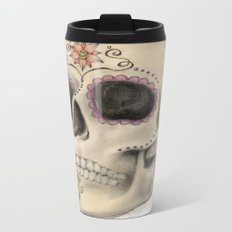 Sugar Skull Metal Travel Mug