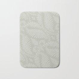 Fancy Scroll Leaves on Pale Green Background Bath Mat