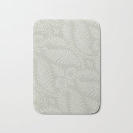 Fancy Scroll Leaves on Pale Green Background Bath Mat