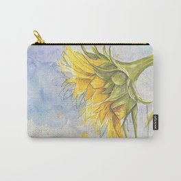 Helianthus annuus: Sunflower Abstraction Carry-All Pouch
