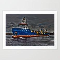 Sea Dredger  Art Print