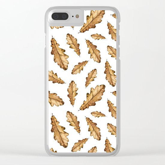 Autumn Leaves Pattern 01 Clear iPhone Case