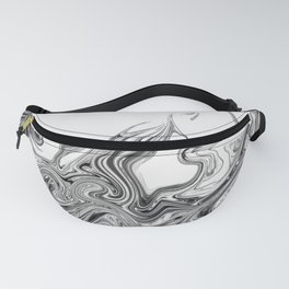 Modern contemporary Black and White Abstract Fanny Pack