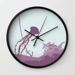 Jellyfish of the Reef Wall Clock