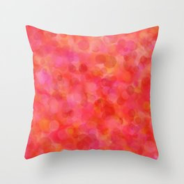 Red Fruit Punch Pattern Throw Pillow