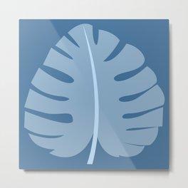 Ocean Beach Theme Palm Leaf Tropical Print Metal Print