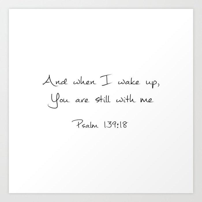 Psalm 139:18 Kunstdrucke