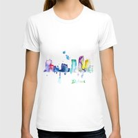 detroit T-shirts featuring Detroit City  by Monique Edwards