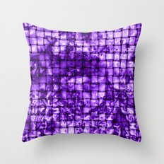 Purple Satin Weave Effect Throw Pillow