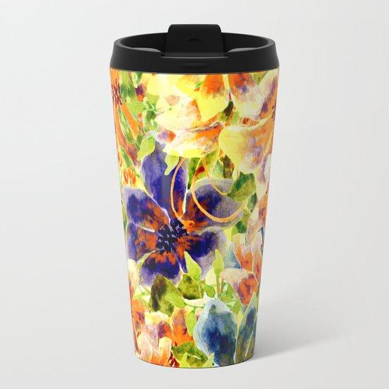 vivid floral Travel Mug