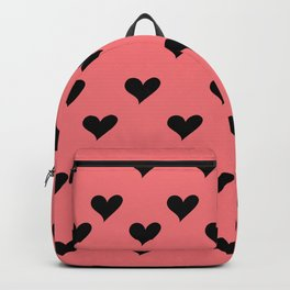 Retro Hearts Pattern Backpack
