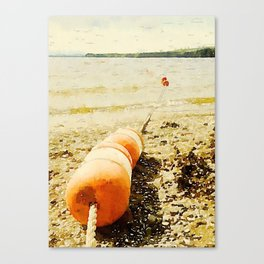 Floats, Lily Bay State Park, Maine Canvas Print