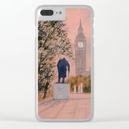 Churchill And Big Ben Clear iPhone Case