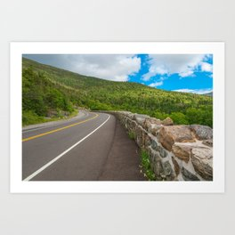 Whiteface Mountain Road Art Print