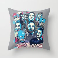 gaming Throw Pillows featuring Inside Gaming by MikeRush