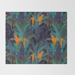Midnight Jungle Throw Blanket