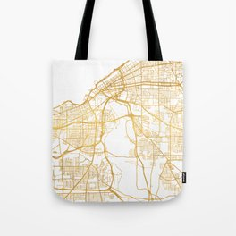 CLEVELAND OHIO CITY STREET MAP ART Tote Bag