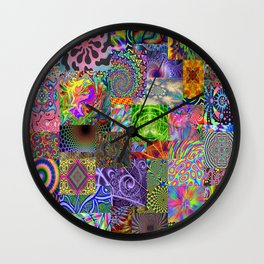 Psychedelic Montage Wall Clock