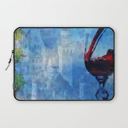 Castle Lepidoptera & Wine Laptop Sleeve