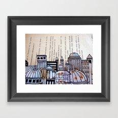 Paper city Framed Art Print
