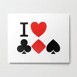 I Love Card Games Metal Print