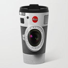classic retro Black silver Leather vintage camera iPhone 4 4s 5 5c, ipod, ipad case Travel Mug