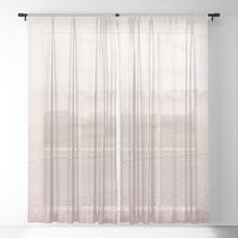 WITHIN THE TIDES - BALLERINA BLUSH Sheer Curtain
