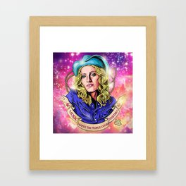Pop icon - Music (make the people come together) Framed Art Print