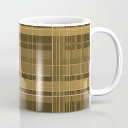 Brown Plaid Coffee Mug