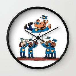 Dog Man Wall Clock