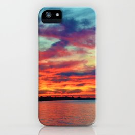 Sunset on Lake St. Clair in Belle River, Ontario iPhone Case