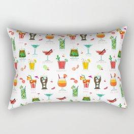 Happy hour..s cocktails illustration Rectangular Pillow