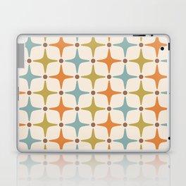 Mid Century Modern Star Pattern 817 Orange Brown Blue and Olive Green Laptop & iPad Skin