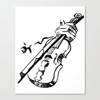 violin Canvas Prints featuring Violin by Azure Cricket