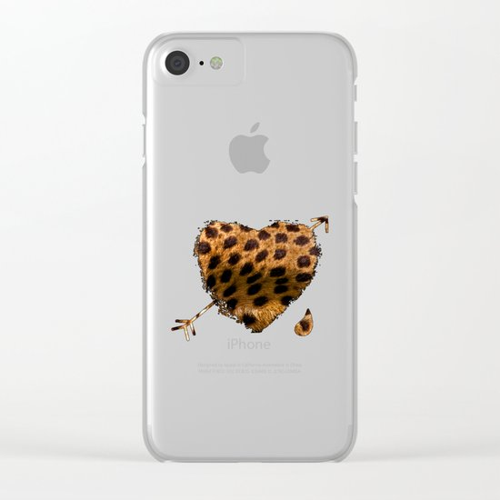 CHEETING HEART Clear iPhone Case