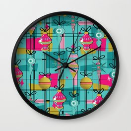 Retro Ornaments Wall Clock