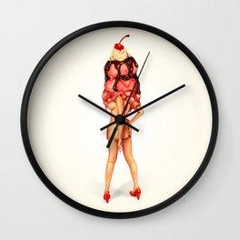 Ice Cream Girl 3 Wall Clock