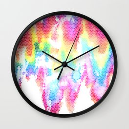 Everything I do is stitched with its color Wall Clock